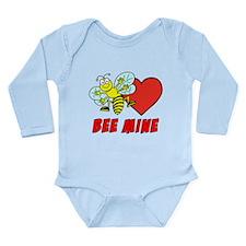 Bee Mine Valentine Long Sleeve Infant Bodysuit