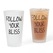 Follow Your Bliss Drinking Glass