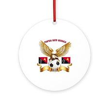 Papua New Guinea Football Design Ornament (Round)