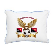 Papua New Guinea Football Design Rectangular Canva