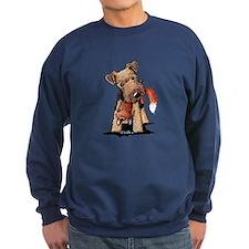 Welsh Terrier With Fox Sweatshirt
