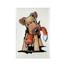 Welsh Terrier With Fox Rectangle Magnet (100 pack)