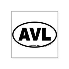 Asheville NC AVL Euro Oval Sticker
