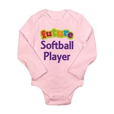 Future Softball Player Long Sleeve Infant Bodysuit