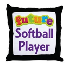 Future Softball Player Throw Pillow