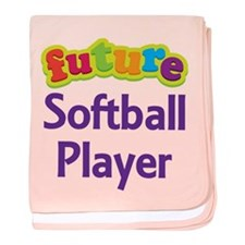 Future Softball Player baby blanket