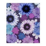 Pink Blue and Purple Flower Background Stadium Bl