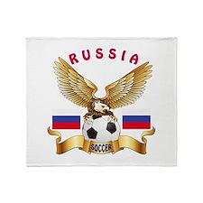 Russia Football Design Throw Blanket