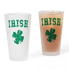 Vintage Irish Drinking Glass