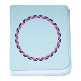 USA / stars and stripes circle baby blanket