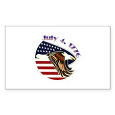 Order Of The Purple Heart Rectangle Decal
