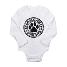 Dog lover with pawprint Long Sleeve Infant Bodysui
