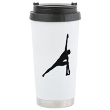 Bikram Yoga Triangle Pose Ceramic Travel Mug