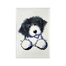 Pocket Bearded Collie Rectangle Magnet (100 pack)