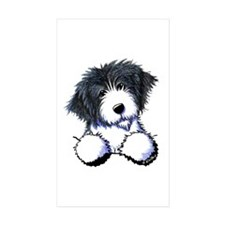 Pocket Bearded Collie Decal