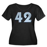 42 (TSB) Women's Plus Size Scoop Neck Dark T-Shirt