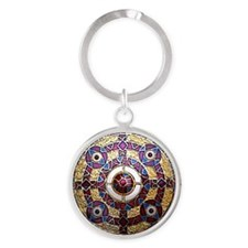 Kingston Brooch Round Keychain