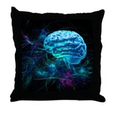 Brain research, conceptual artwork - Throw Pillow