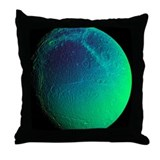 Saturn's moon Dione, Cassini image - Throw Pillow