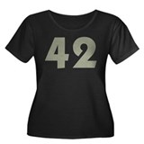 42 (SMA) Women's Plus Size Scoop Neck Dark T-Shirt