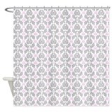 French Damask Gray &amp;amp; Pink