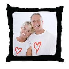 Happy senior couple - Throw Pillow