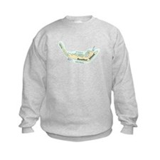 Sanibel Island - Map Design. Sweatshirt