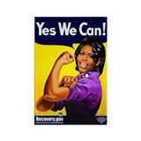 MO 3-9-09pm yes we can 219.jpg Rectangle Magnet (1