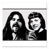 "Mom and Bob Seger Square Car Magnet 3"" x 3"""