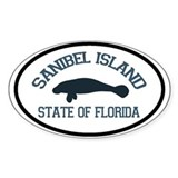 Sanibel Island - Manatee Design. Decal