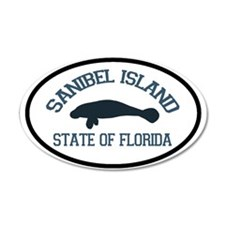 Sanibel Island - Manatee Design. Wall Decal