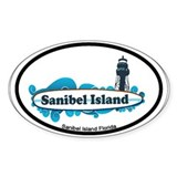 Sanibel Island - Surf Design. Decal