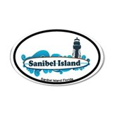 Sanibel Island - Surf Design. Wall Decal