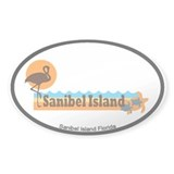 Sanibel Island - Beach Design. Decal