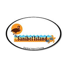 Sanibel Island - Beach Design. 20x12 Oval Wall Dec