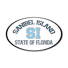 Sanibel Island - Oval Design. 20x12 Oval Wall Deca