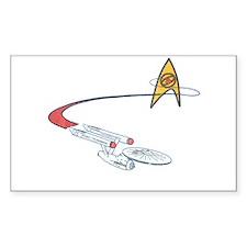 Vintage Star Trek Sticker (Rectangle)