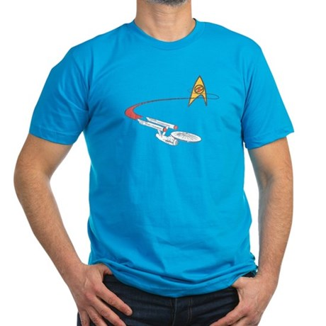 Vintage Star Trek Men's Fitted T-Shirt (dark)