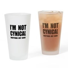 Not Cynical Drinking Glass