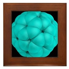 Buckyball molecule, artwork - Framed Tile