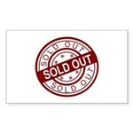 Sold Out Sticker (Rectangle 50 pk)