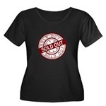 Sold Out Women's Plus Size Scoop Neck Dark T-Shirt