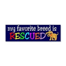 Rescue Dog Car Magnet 10 x 3