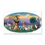 St. Fran (Ov)-Dogs-Cats-Hrs Rectangle Car Magnet