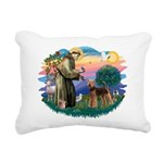 St Francis #2/ Airedale Rectangular Canvas Pillow