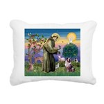 St Francis & Aussie Rectangular Canvas Pillow