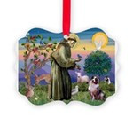 St Francis & Aussie Picture Ornament