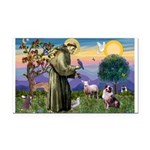 St Francis & Aussie Rectangle Car Magnet