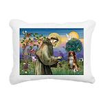 St Francis/ Aus Shep Rectangular Canvas Pillow