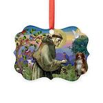 St Francis/ Aus Shep Picture Ornament